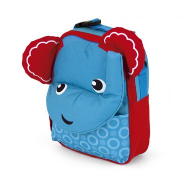Fisher-Price rugtas olifant 28 cm blauw/rood
