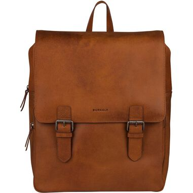 Burkely Leren Laptop Rugzak 14 inch On The Move Cognac