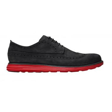 Cole Haan Originalgrand long wingtip black magnet berry zwart