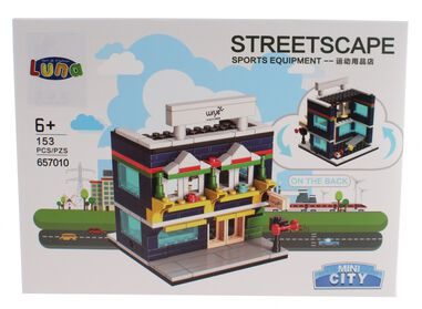 Luna Mini City Streetscape Sports Equipment bouwset 153-delig (657010)