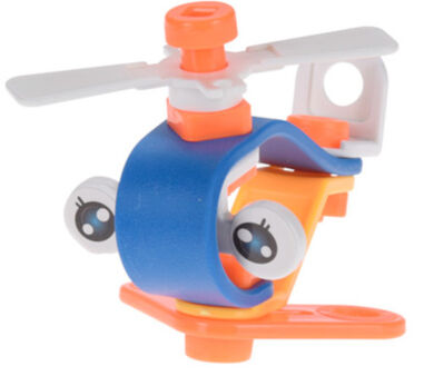Free and Easy helicopter junior blauw/oranje