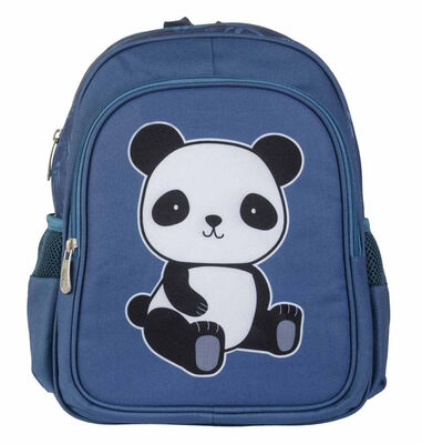 A Little Lovely Company rugzak Panda junior 13 liter polyester blauw