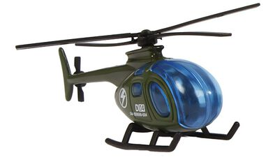 Mission Control militaire helikopter diecast 7 cm legergroen