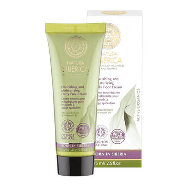 Natura Siberica Nourishing And Moisturizing Daily Foot Cream 75ml.