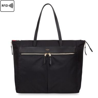Knomo Grosvenor Place Expandable Tote Black 15 inch