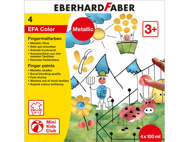 vingerverfset Eberhard Faber metallic set 4 x 100ml assorti