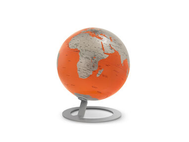 globe iGlobe Orange 25cm diameter metaal/chroom