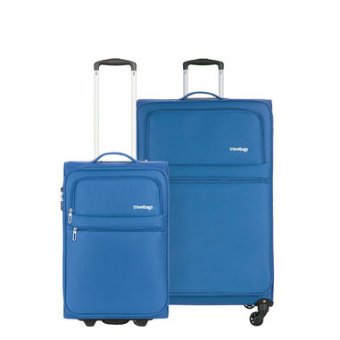 Travelbags Lissabon 2 Delige Trolley Set aqua blue
