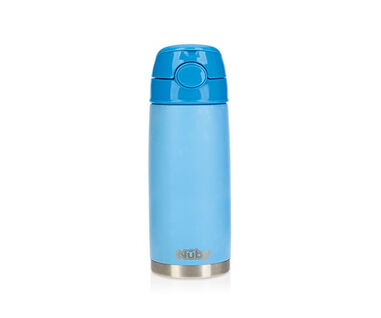 Nuby Pastel Inox Thermosbeker 420ml blauw 3years+