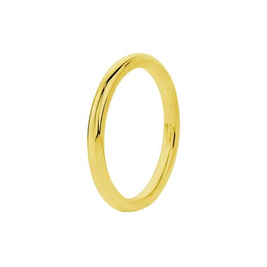 Stalen ring goldplated