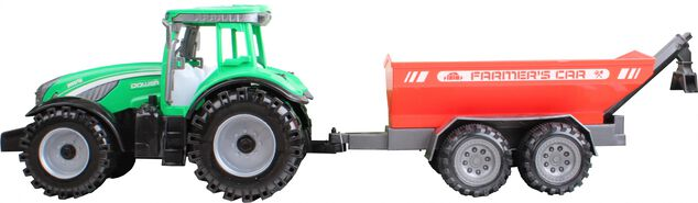 Free and Easy tractor Farmer's Car aanhanger 44 cm groen/rood