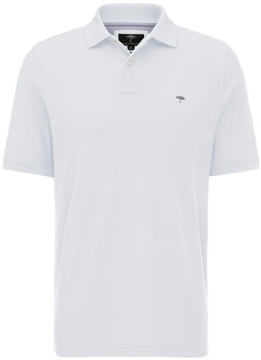 Fynch-Hatton Heren poloshirt pique weving casual fit wit