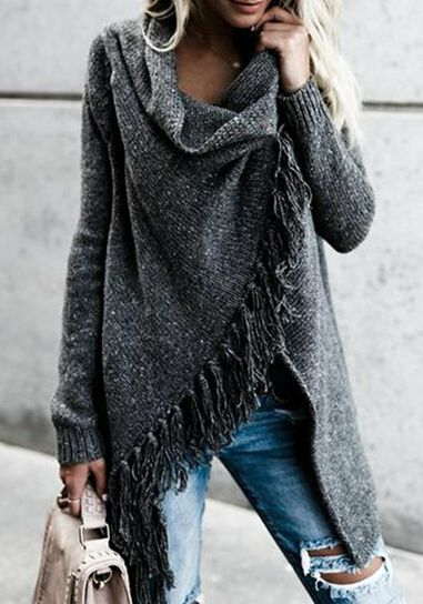 Knitted Tassel vest in de sale met enorme korting