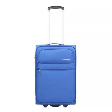 Travelbags Cabin Ok Soft 2 Wiel Trolley aqua blue