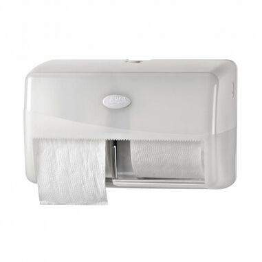 White Duo Toiletrolhouder Compact Wit