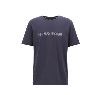 HUGO BOSS T-SHIRT CREW NECK OGOPRINT DARK BUE
