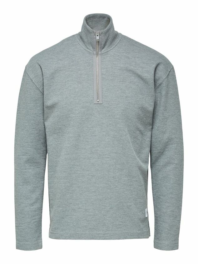Selected Homme Sweatshirt Hoge hals en rits