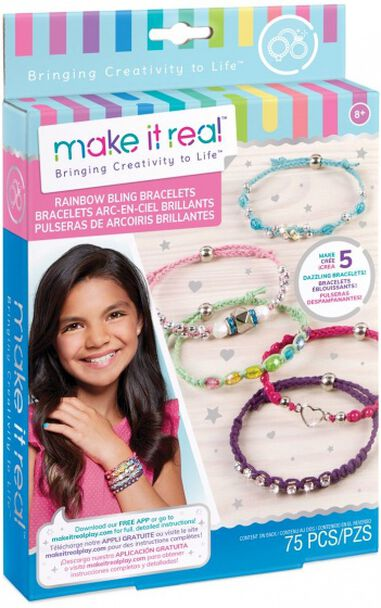 Make It Real Rainbow Bling armbanden maken 75-delig