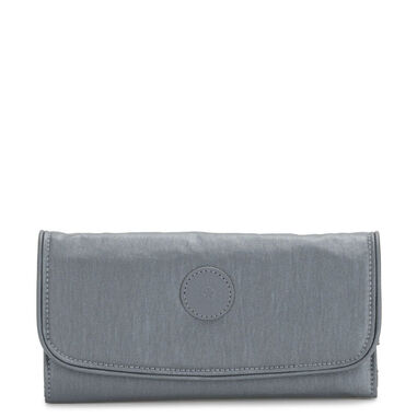 Kipling Money Land Portemonnee Steel Grey Metal