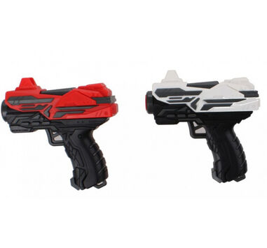 Tack Pro shotgun Duo Pocket junior 11 cm zwart/rood/wit 15-delig