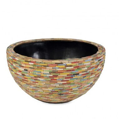 Schaal Caribbean Bowl 43x22 cm colored wood