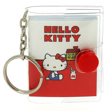 Blueprint Collections sleutelhanger notitieboek Hello Kitty 5x6 cm