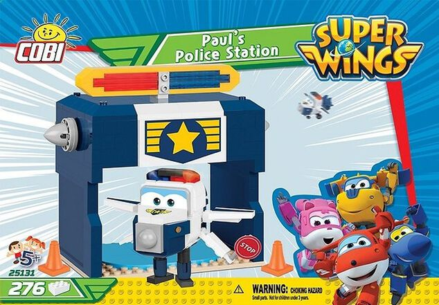 Cobi Super Wings bouwset Paul's Police Station (25131)