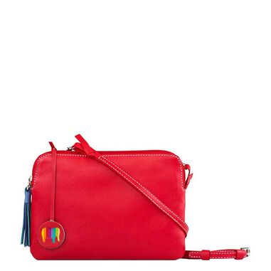Mywalit Bruges Double Zip Cross Body red