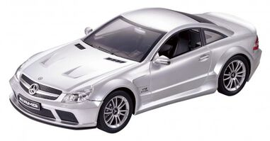 Cartronic RC Mercedes Benz SL 65 AMG zilver 1:24