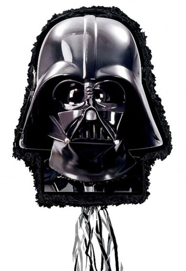 piñata Star Wars Darth Vader Outline 55,3 cm zwart