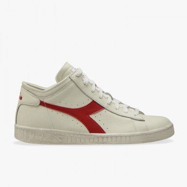 Diadora Unisex game low waxed row cut white red pepper