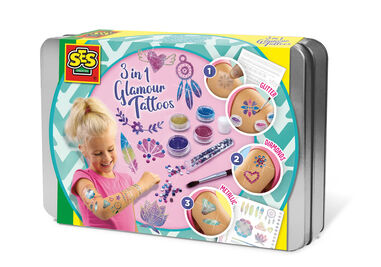 SES Creative 3-in-1 tattoos Glamour junior 4-delig