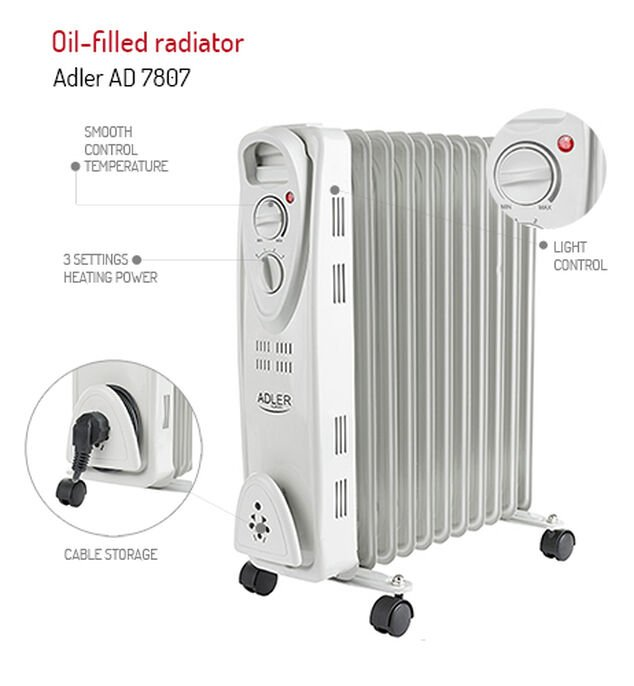Mesko Olie Radiator 11 Ribben - MS 7806