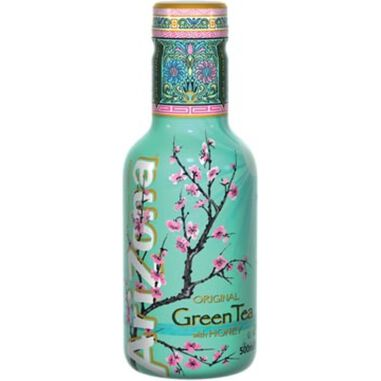 Arizona ijsthee Green Tea & Honey, flesjes van 0,5 L, pak van 6