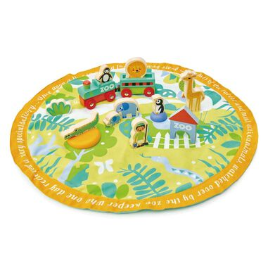 Tender Toys Safari in opbergzak junior 45 x 45 x 9 cm 16-delig