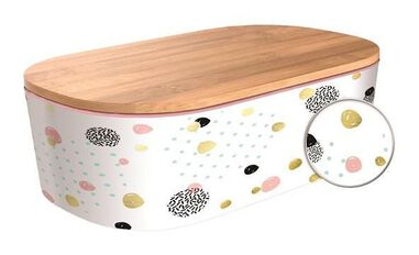 broodtrommel Deluxe Dotted-Gold 21 x 12,5 cm