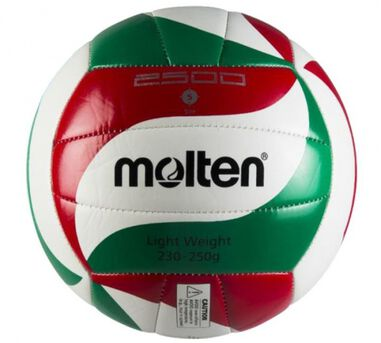 volleybal VM2501L rood/wit/groen maat