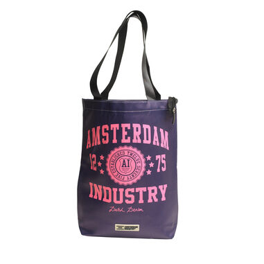 Amsterdam Industry Synthetic Shopper Bag - Paars/Roze