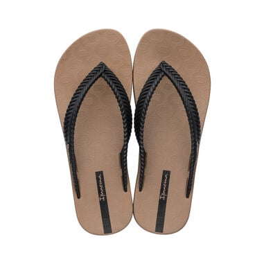 Ipanema slipper dames - Nature bruin/zwart