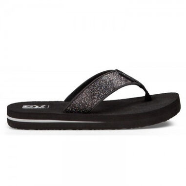 Teva Children mush ii black sparkle zwart