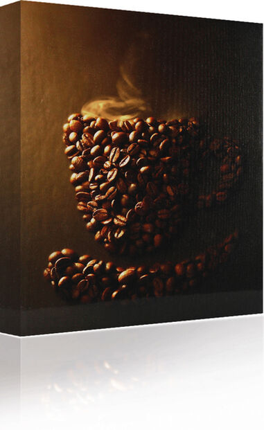 Canvas Coffee cup in coffee beans