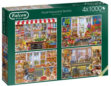Legpuzzel Your Favourite Shops 4x1000 stukjes