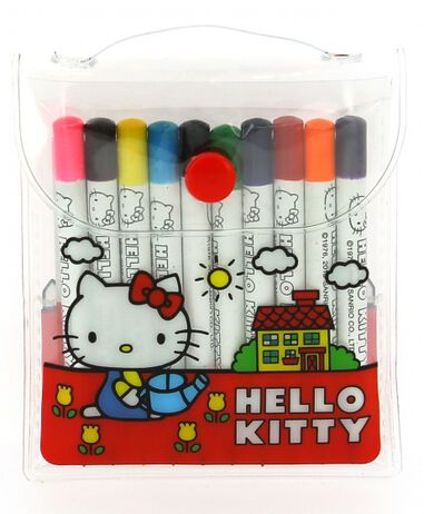 Blueprint Collections kleurset Hello Kitty rood 7 x 9,5 cm