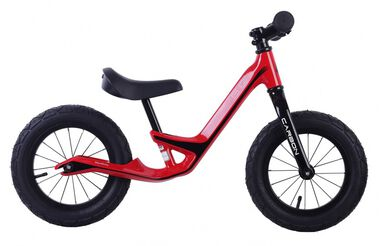 Loopfiets Balance Bike Carbon 12 Inch Junior Rood
