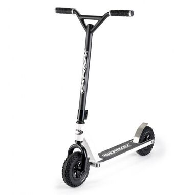 Dirt stuntstep Junior Voetrem Zwart/Wit