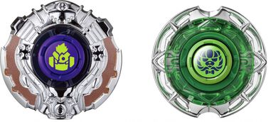 Infinity Nado tollen set Fist vs. Shadow 5,5 cm groen/zilver