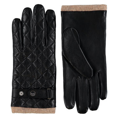 Bari Quilted Leather Gloves