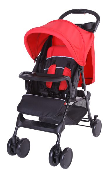 Bebies First Buggy Shopper Zwart / Rood