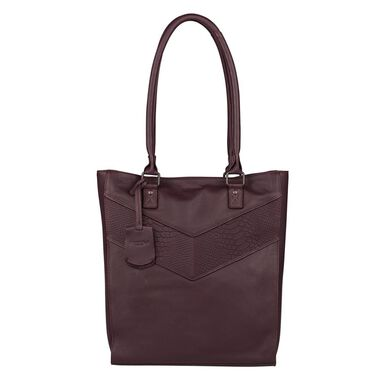Burkely Snake Selah Shopper wine red