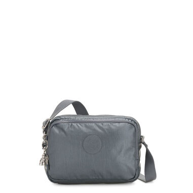 Kipling Silen Schoudertas Steel Grey Metallic